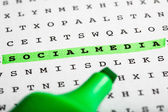 Text marker on word puzzle - Newsletter — Stock Photo