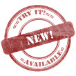 New, Try It, Red Grunge Seal Stamp — Stock Photo #42718791
