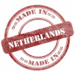 Made In Netherlands, Red Grunge Seal Stamp — Stock Photo #42718833