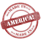 Made In America, Red Grunge Seal Stamp — Foto de Stock
