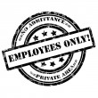 Employees Only. Rubber Stamp, Grunge, Circle — Stock Photo #42957949