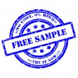 Free Sample button, Rubber Stamp, Grunge, Circle — Stock Photo