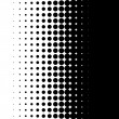 Halftone pattern, round spot, retro graphic design element — Stock Vector