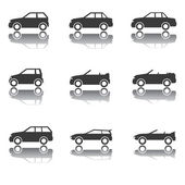 Set of Car Icons, Transportation, Traffic, Vehicles — Stock Vector