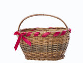 Brown wicker basket — Stock Photo