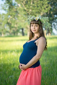 Beautiful pregnant woman — Stock fotografie