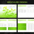 Template of brochure design - Stock Vector
