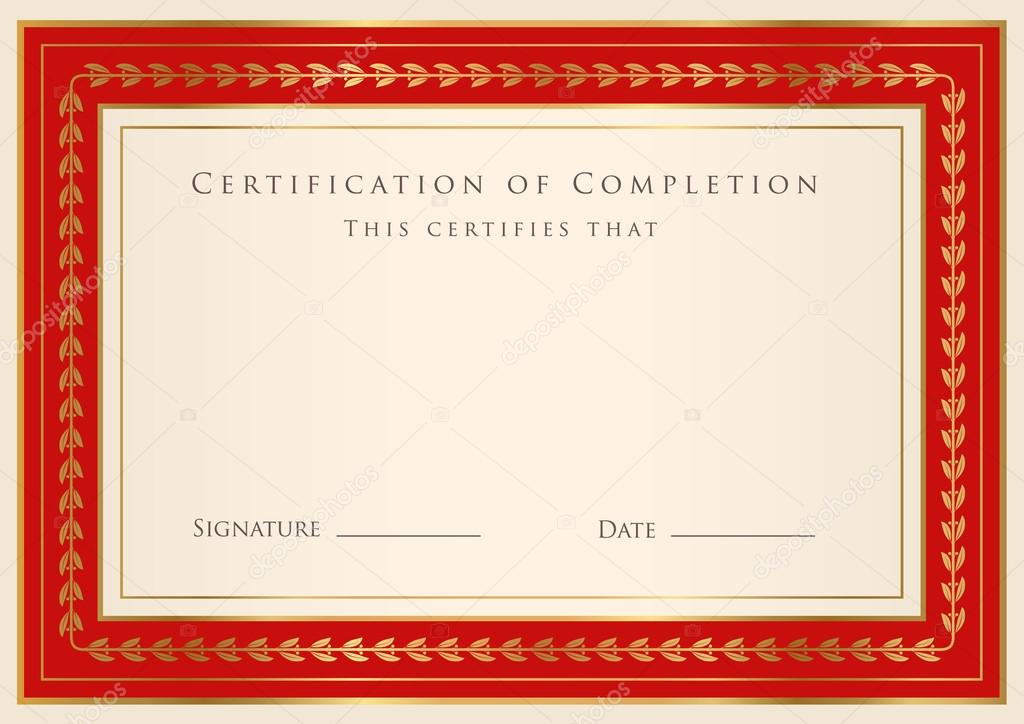 Borders For Certificates Templates