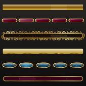 Złoty menu nawigacji — Wektor stockowy