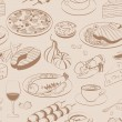 Seamless pattern of food - Stock Vector