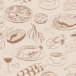 Seamless pattern of food - Image vectorielle