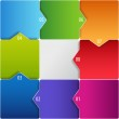 Conceptual vector of colorful cubes with arrows — Stock Vector