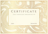 Horizontal gold certificate of completion ( template) — Stock Vector