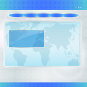 Modèle bleu de conception de site web — Vecteur
