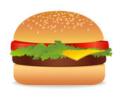 Isolated Appetizing Hamburge — Stock Vector