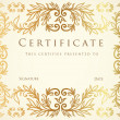 Horizontal certificate of completion (template) — Stock Vector