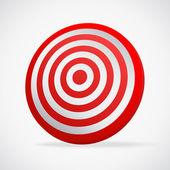 Vector Red target — Stock Vector