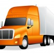 Isolated Truck (lorry) — Stock Vector