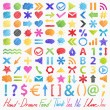 Vector set: hand-drawn symbols. Colorful design elements — Stock Vector