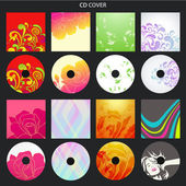 Vector set: Colorful CD cove — Stock Vector