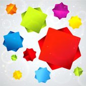 Abstract background with colorful falling stars. Vector banners — 图库矢量图片