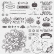 Scroll Design elements. Vector set: Floral and ornamental symbols — Stok Vektör