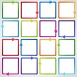 Conceptual vector illustration of colorful cubes with arrows - Vettoriali Stock