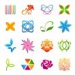 Icon set: Isolated colorful design elements (abstract symbols) — Stock Vector #19657465