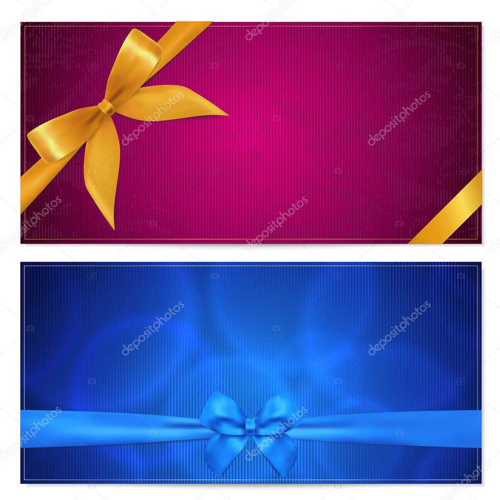 gift voucher or card template with corrugated texture