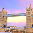 Tower bridge at sunset. Popular landmark in London, UK - Foto de Stock