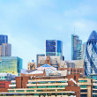 Modern buildings in London, cityscape - Stock Photo