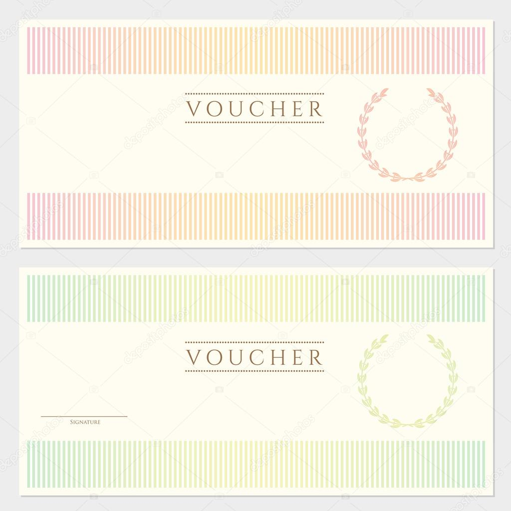 Voucher (gift Certificate) Template (banknote, Money, Currency ...