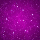 Abstract dark violet (petunia) background with sparkling, twinkling stars. Cosmic atmosphere illustration. Universe. Vector — Stok Vektör