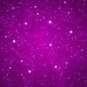абстрактный темно-фиолетовый (петуния) фон с игристого, мерцающие звезды. космическая атмосфера иллюстрации. вселенная. вектор — Cтоковый вектор
