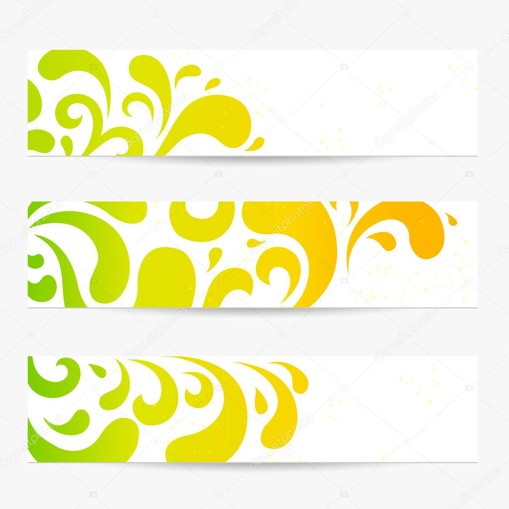 Vector set Banners Colorful abstract backgrounds with