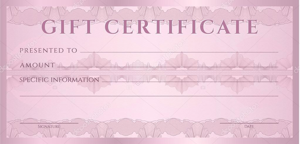 Gift certificate voucher coupon template layout with for Cheque voucher template