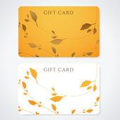 Carte-cadeau (carte de réduction, cartes de visite) avec un motif floral. conception de fond utilisable pour bon cadeau, bon, invitation, etc vecteur billet — Vecteur