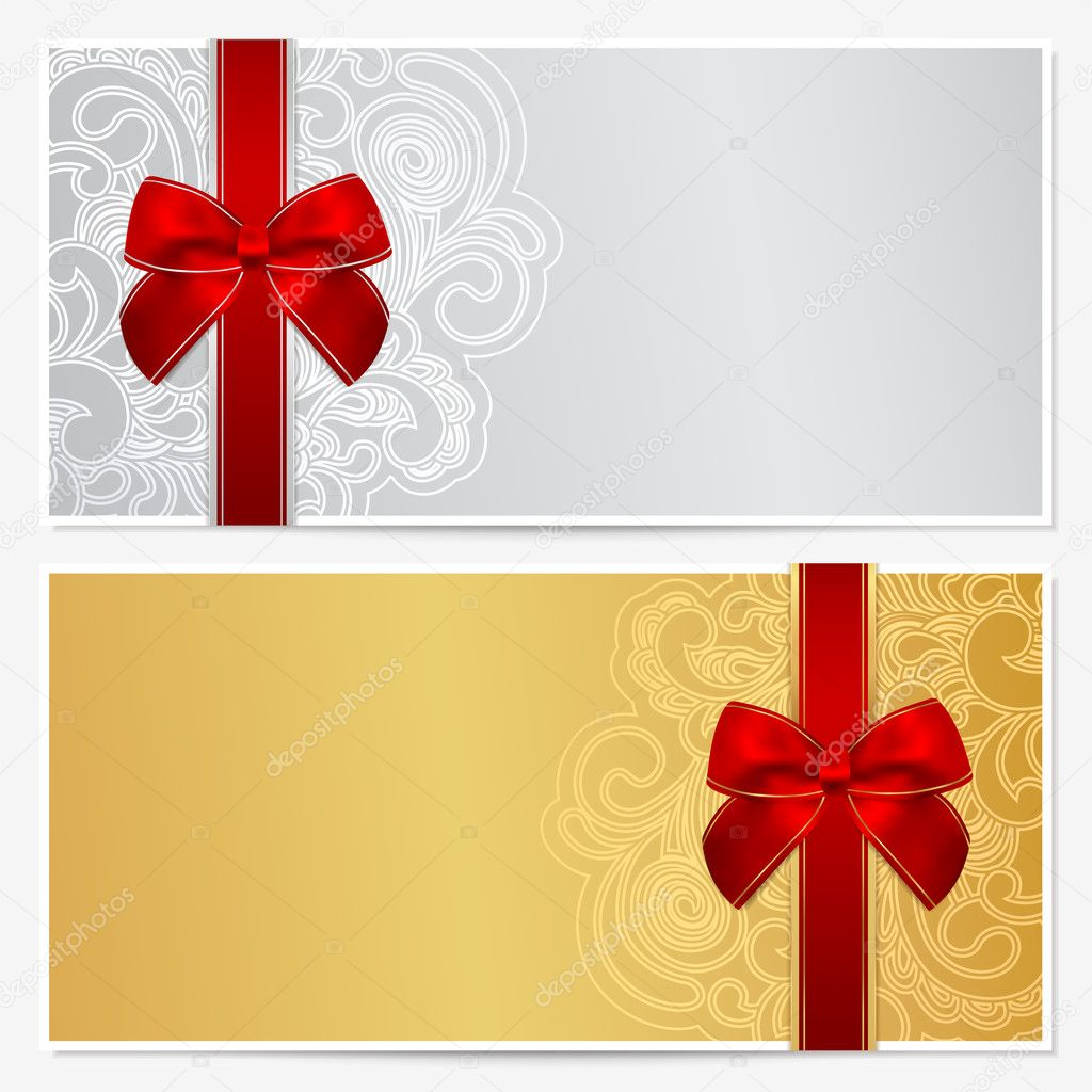Voucher Gift Certificate Coupon Template With Border