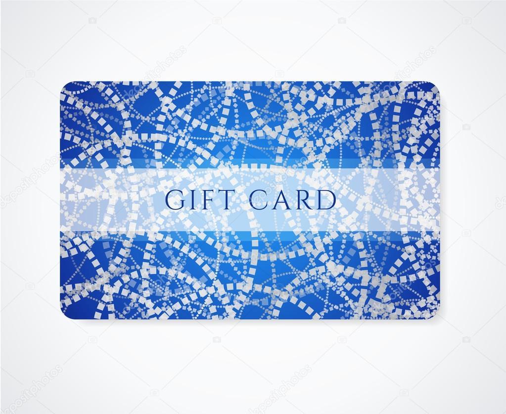 tarjeta regalo azul oscuro, negocios, plantilla de tarjeta de ...