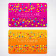 Colorful Business or Gift card template with abstract pattern. Bright (orange, purple) background design for gift coupon, voucher, invitation, ticket. Vector — Stock Vector