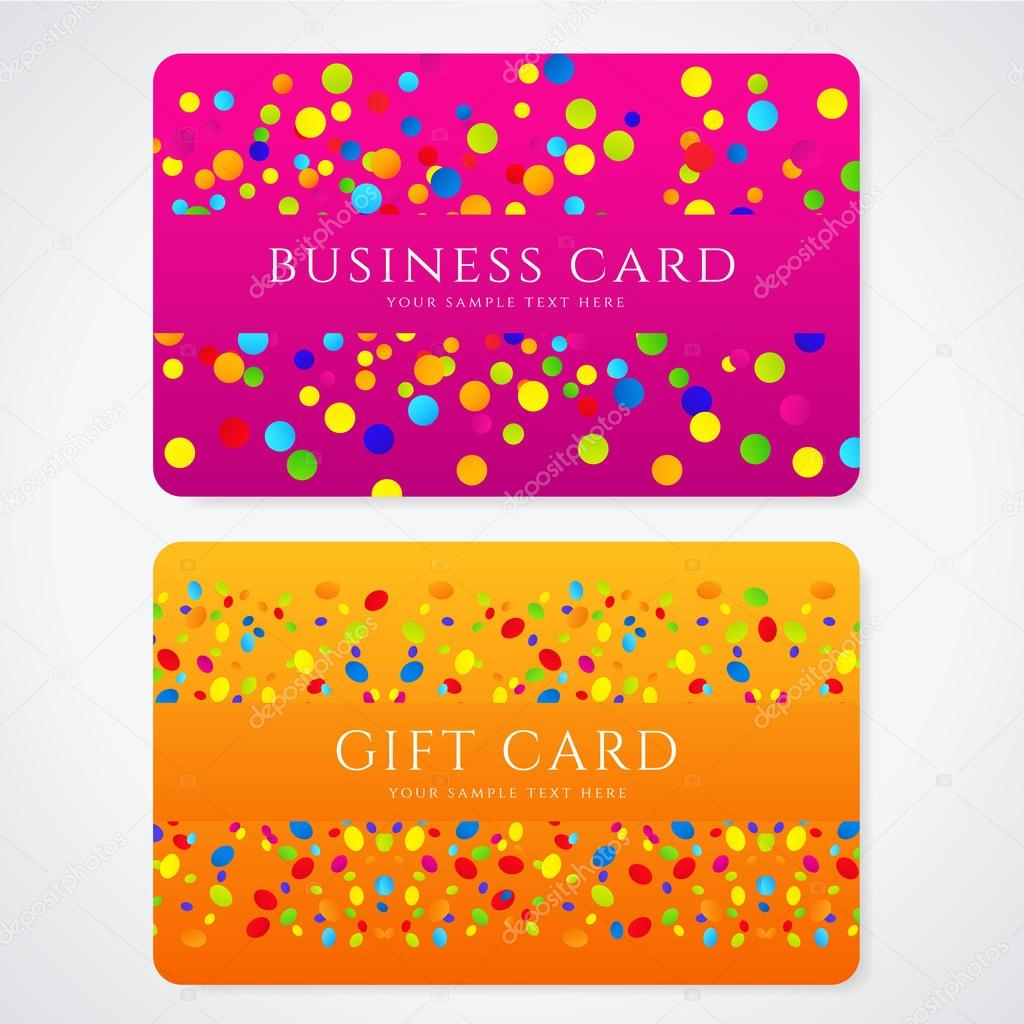 Colorful Business or Gift card template with abstract