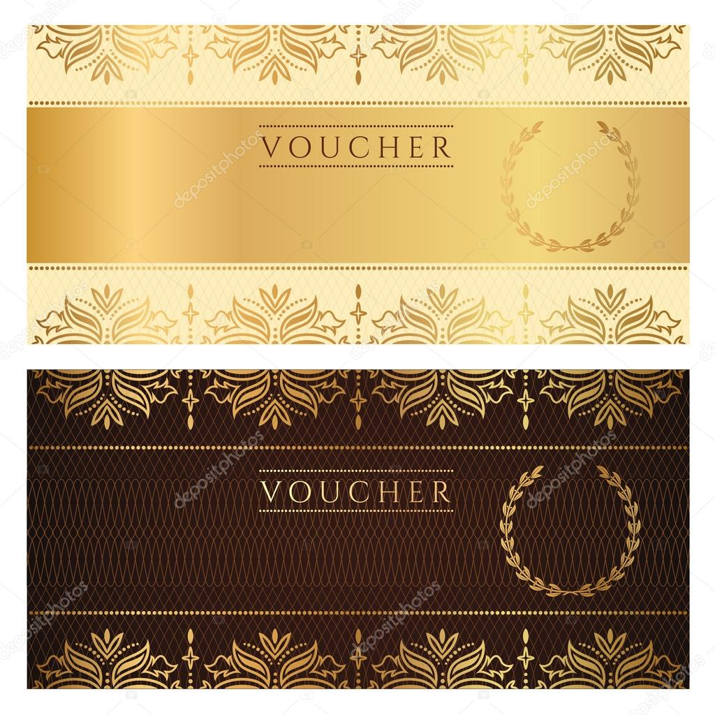 Standard Wedding Gift Amount: Voucher, Gift Certificate, Coupon Template With Floral