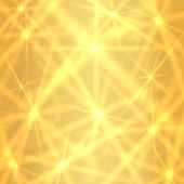 Abstract golden background with sparkling twinkling stars (pattern). Gold Cosmic atmosphere illustration. Holiday backdrop (Christmas, birthday). Vector — Stok Vektör
