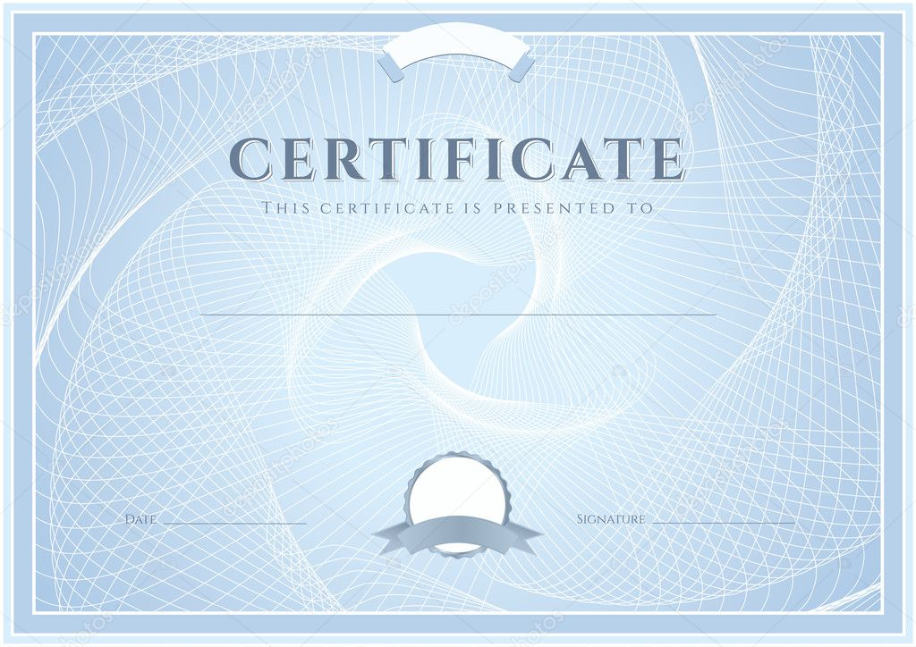 Certificate, Diploma of completion (design template