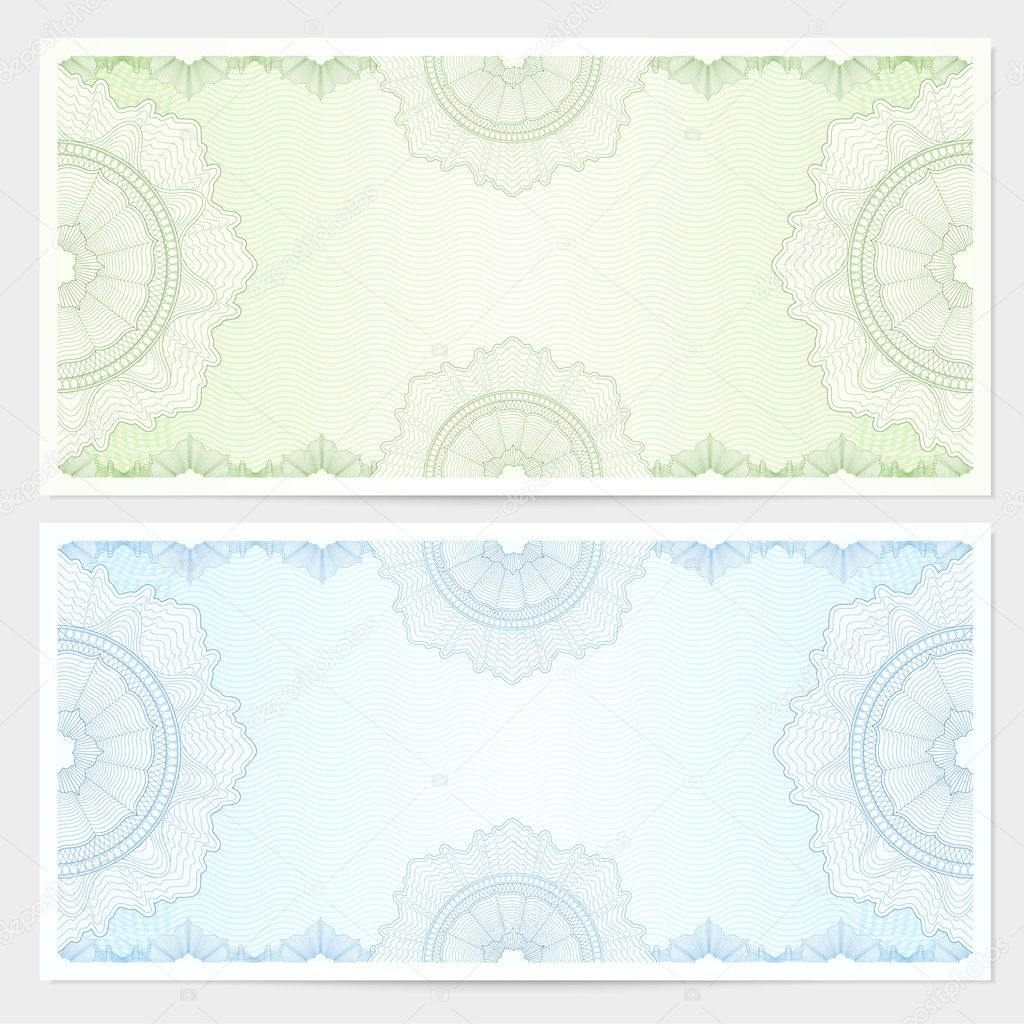 Depositing Wedding Gift Checks : ... -currency-note-check-cheque-ticket-reward.-Blue-green-color.-Vector