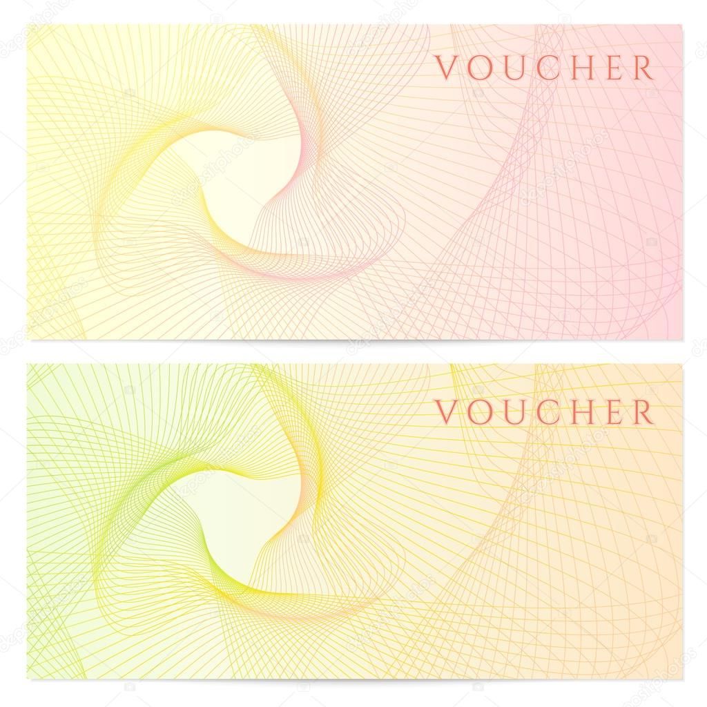 gift certificate voucher coupon template colorful rainbow gift certificate voucher coupon template colorful rainbow guilloche pattern watermark