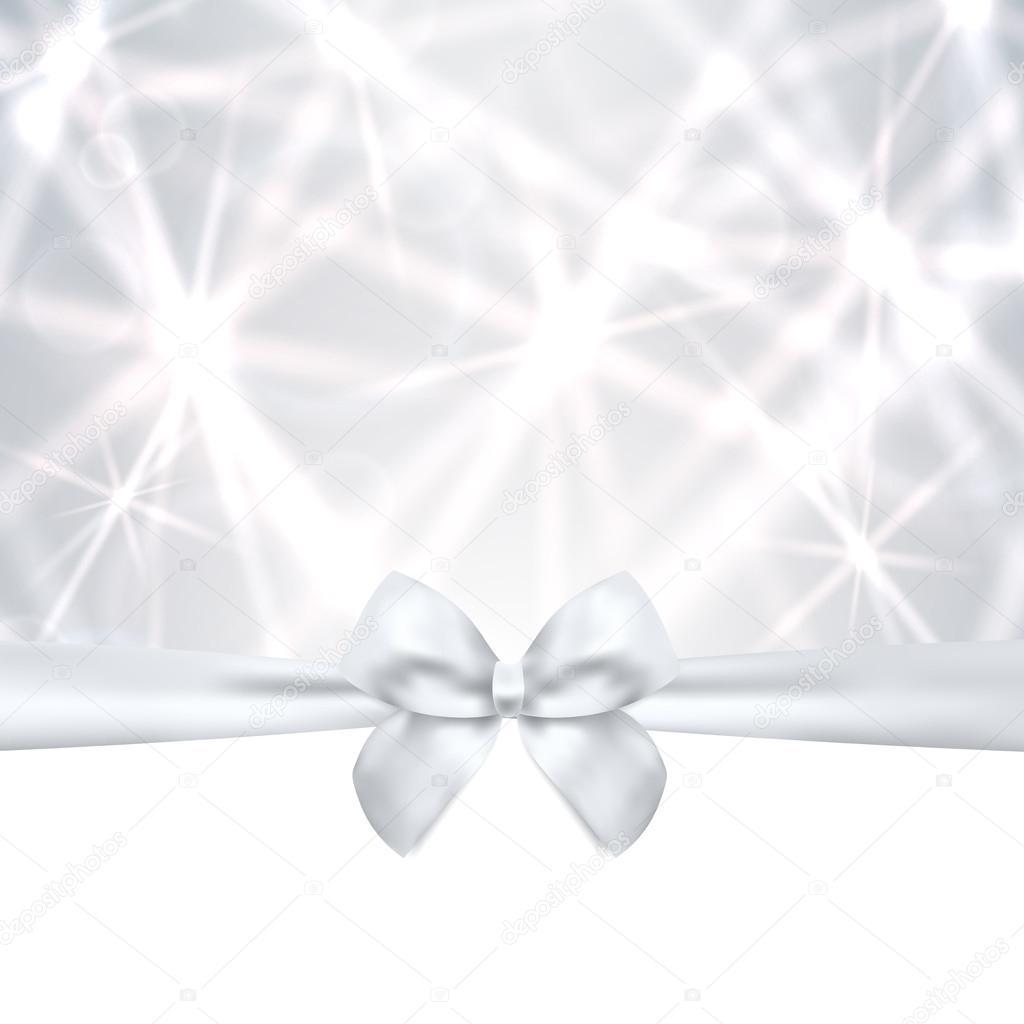 holiday card christmas card birthday card gift card greeting holiday card christmas card birthday card gift card greeting card silver template bow ribbon present sparkling twinkling stars