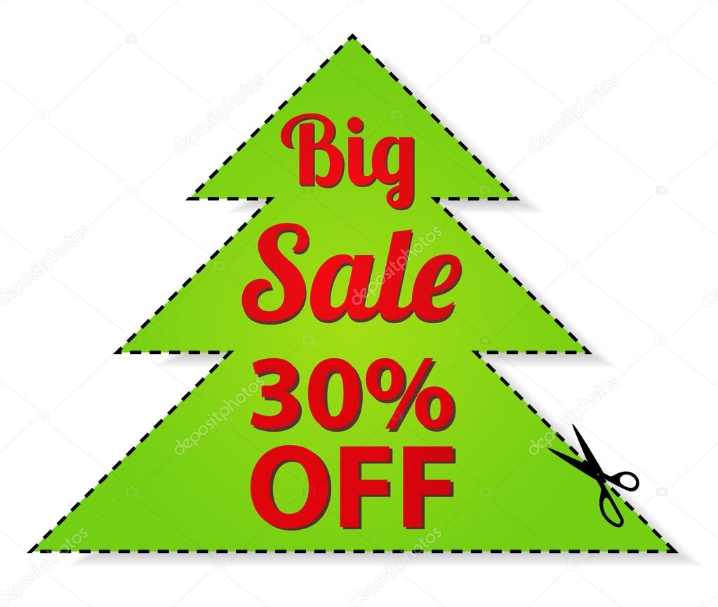 coupon vector label banner tag red template design coupon vector label banner tag red template design layout christmas tree shaped frame dotted line dash line percent scissors cut off