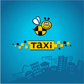 City ​​taxi logo, vector — Stock Vector