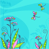 Summer card — Stock Vector